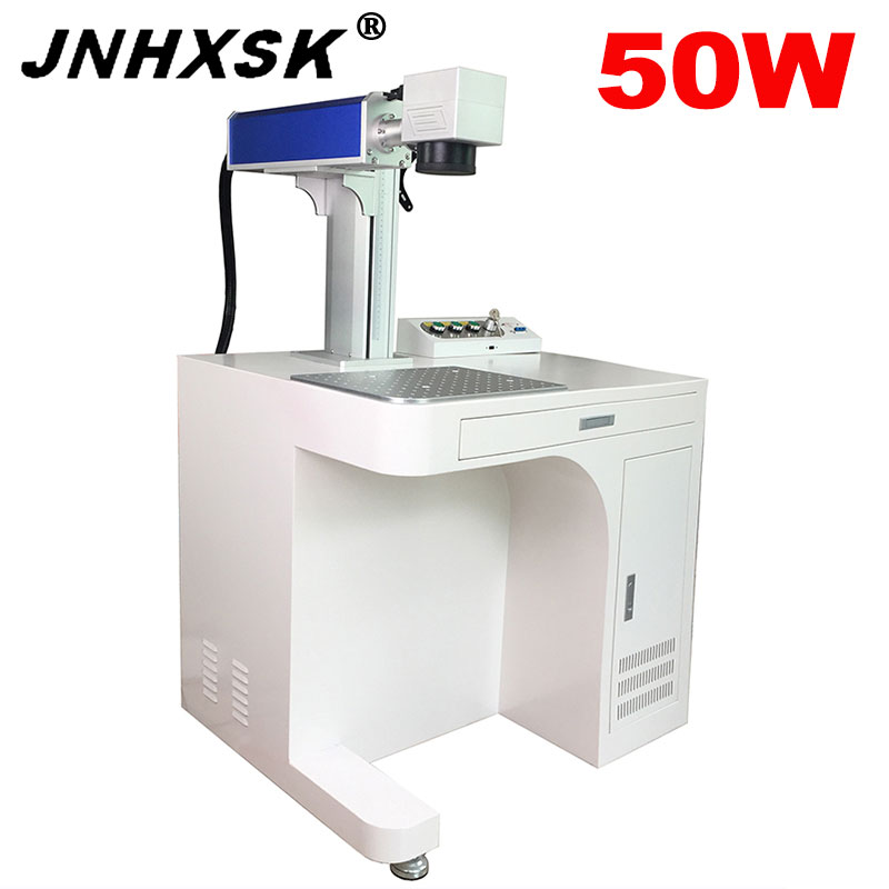 200x200/300x300mm Desktop Metal Laser Engraver Optical 50w Fiber Laser Marking Machine 110V/220V Laser Source MAX Or Raycus