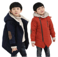Children's Clothing Male Female Child Wadded Jacket 2016 Winter Big Boy Girls Cotton-padded Coat Plus Velvet Thickening Outear