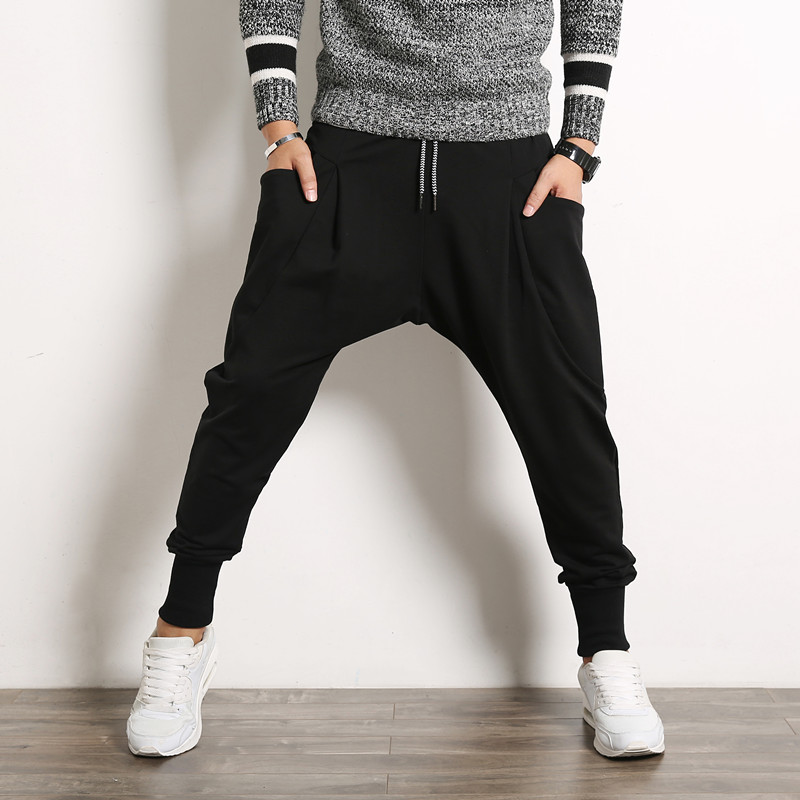 new 2017 mens harem pants casual long sweatpants drop