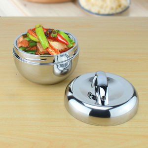 food container food storage tiffin box dinnerware set 1.0l apple shape thermal insulation stainless steel lunch box Bento