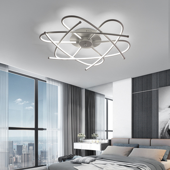 LED נברשת תאורת סלון חדר שינה מחקר תקרת נברשת LED משטח התקנה תאורה ביתית AC110V/220 V
