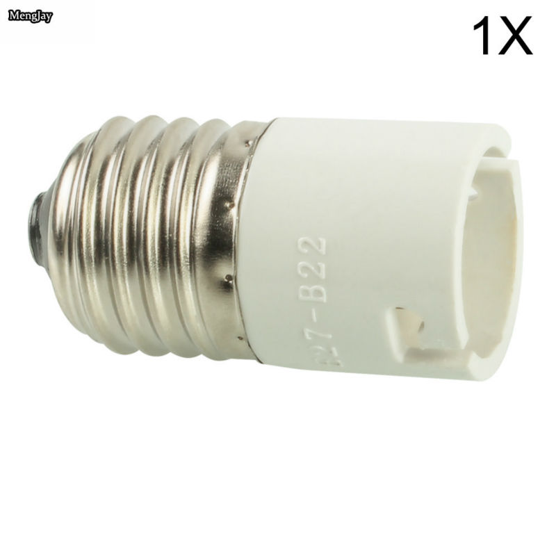 1x E27 to B22 Female LED Light Lamp Bulbs Adapter Converter Holders Bayonet 250V 500W Plastic