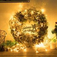 Рождественская елка Новый год Рождественская гирлянда с цветами украшения DIY Новогоднее украшение висячие украшения ручная работа для дом...