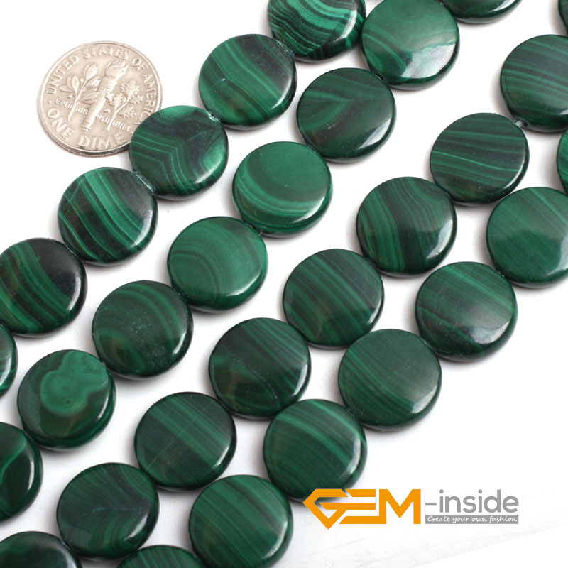 14mm coin shape malachite stone beads natural stone beads DIY loose beads for jewelry making strand 15 inches free shipping 210pcs lot 10 14mm pear drop crystal fancy stone point back teardrop droplet glass stone for jewelry making diy accessory