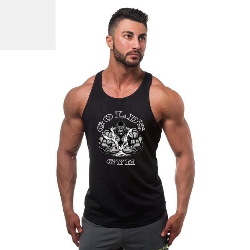 2017 Neue Sommer Explosion Muscle Fitness Weste Männer Bodybuilding Qualität Eu Große Männer Weste ärmelloses Shirt Weste Billigverkauf 50%