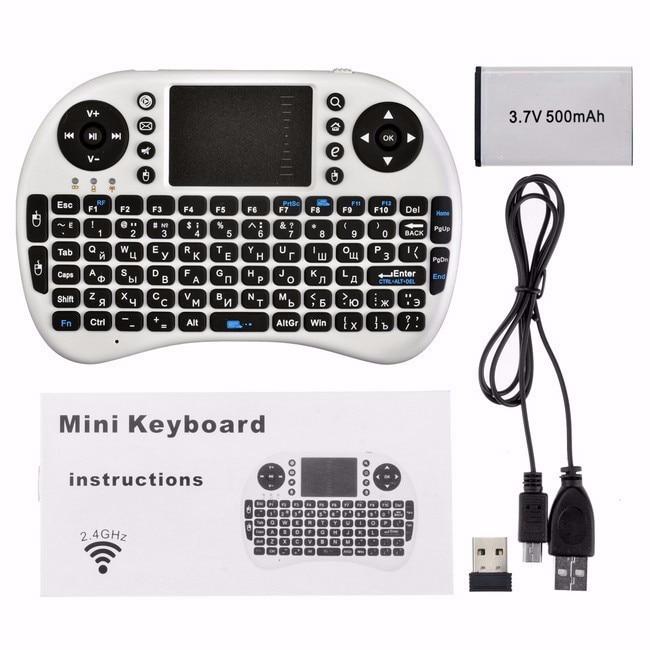 Mini անլար ստեղնաշար 2.4 գ touchpad փոքր - Համակարգչային արտաքին սարքեր - Լուսանկար 5