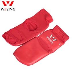 Wesing sanda wushu instep guarda muay thai tornozelo protetor boxeo takawondo treinamento pé apoio grande tamanho mma