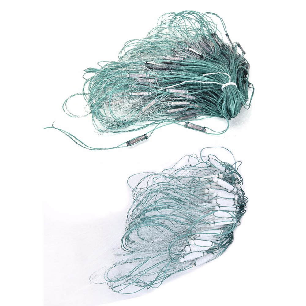 20m 3 Layers Monofilament Gill Fishing Net with Float Fish Trap Rede De Pesca OH