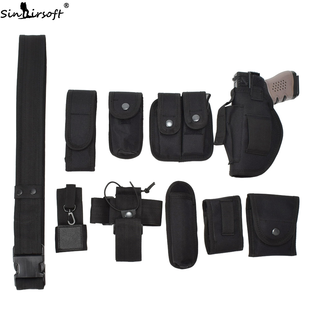 2016 Hot Outdoor Designer Men Belts Multi-function Tactical Belt Security Police Guard Utility Kit Nylon YBT20226