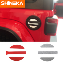 SHINEKA Car Stickers Fuel Tap for Jeep Wrangler jl accessories 2018 Aluminum Alloy 3D Tank Cover Sticker jeep wrangler