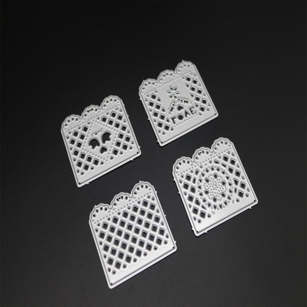 Решетки металлические Штанцевые формы для Скрапбукинг Craft умереть порезы штамп Тиснение 3D умирает Фото Новый 2018