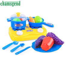 15pcs Plastic Kids Children Kitchen Utensils Food Cooking Pretend Play Set Toy Gift Levert Dropship O1252