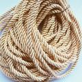 Wholesale Diameter 5mm Beige Color No. 89 Polyester Three Strands of Twisted Cords Diy Jewelry Accessories 5 Meter(FP1001)