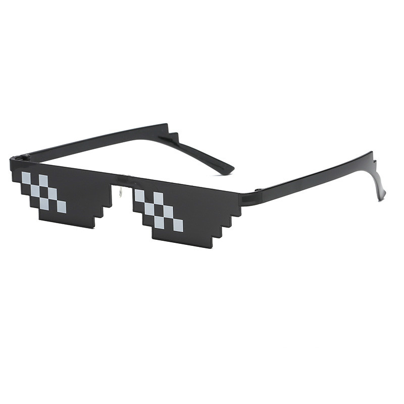 LOL Party Thug Life Mosaic Sunglasses Two-dimensional Artifact Coding Pixel Children Birthday Anniversary Enfant