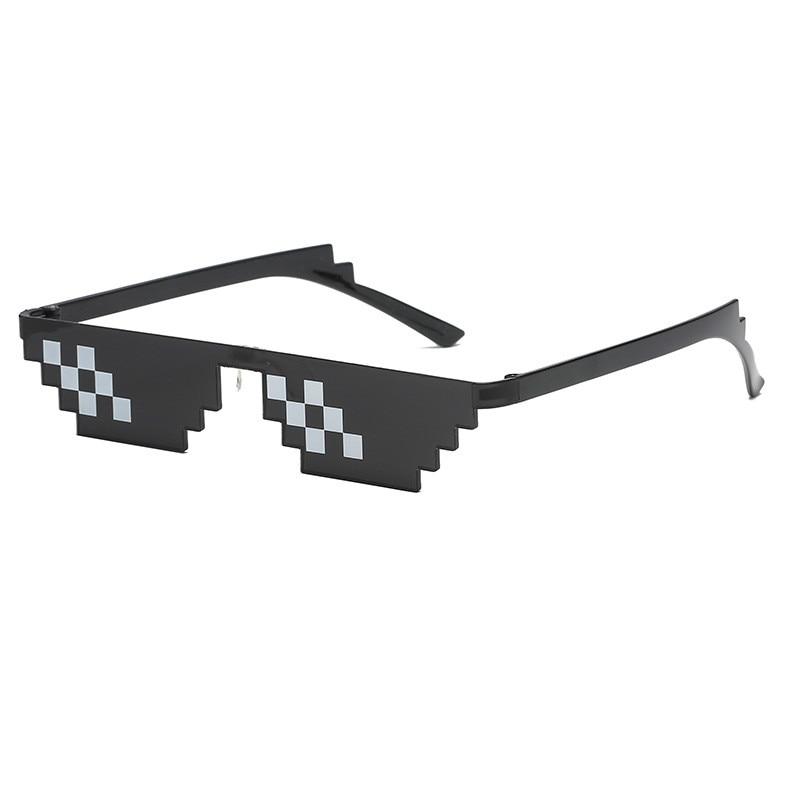 LOL Party Thug Life Mosaic Sunglasses Two-dimensional Artifact Coding Pixel Children Birthday Anniversary Enfant