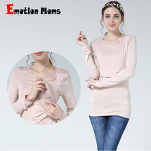 Emotion Moms New Maternity clothes Nursing T-shirt Breastfeeding Top pregnancy clothes for Pregnant Women Fashion Maternity Tops цена и фото