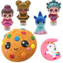 Kawaii бисквиты Squishies jumbo Squeeze Squishy восхитительный Единорог медленно поднимающийся Squeeze Ароматические антистрессовые игрушки для детей