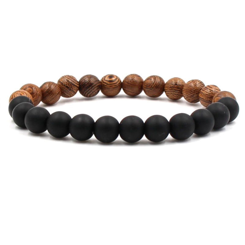 New Trendy Charm Frosted Beads Bracelet Elastic Bracelets For Women Accessories Jewelry Natural Stone Mens Bracelets 2019 in Charm Bracelets from Jewelry Accessories