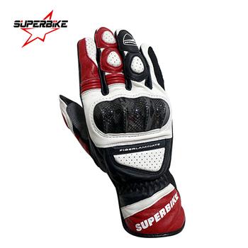 Rękawice motocyklowe skórzane GP PRO dla mężczyzn długie pełne palce męskie motocyklowe rękawice oryginalne koziej skóry kolarstwo wyścigi Motocross Luvas tanie i dobre opinie SUPERBIKE Skóra Mężczyźni Oddychająca Black Red Goatskin leather M L XL