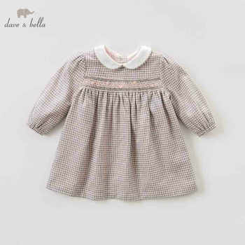 DB8691 dave bella autumn infant baby girl\'s fashion plaid dress kids birthday party dress toddler children clothes - DISCOUNT ITEM  50 OFF Mother & Kids