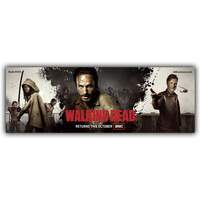 Popular TV Series The Walking Dead Silk Canvas Fabric Poster Comics Live Version Of The Cover