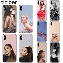 ciciber For Iphone 7 8 6 6S Plus 5S SE X XR XS MAX Soft silicone TPU Cover for iphone 11 Pro Max Phone Case Ariana Grande Coque ciciber for iphone 7 8 6 6s plus 5s se x xr xs max soft silicone tpu cover for iphone 11 pro max phone case ariana grande coque