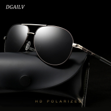 DGAILV Men Vintage Aluminum HD Polarized Sunglasses Unisex Classic Brand Sun glasses Coating Lens Driving Shades For Men/Women