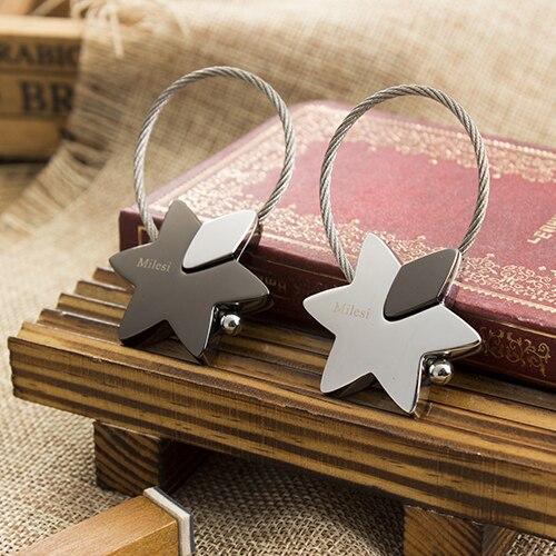 Milesi - New 2017 Brand Superstar Star Keychain Key Chain Rings for Women Men Novelty innovative Trinket souvenir pendant
