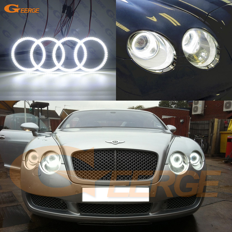 For Bentley Continental GT GTC 2003-2010 Excellent Ultra Bright 3528 SMD Led Angel Eyes Kit Halo Ring