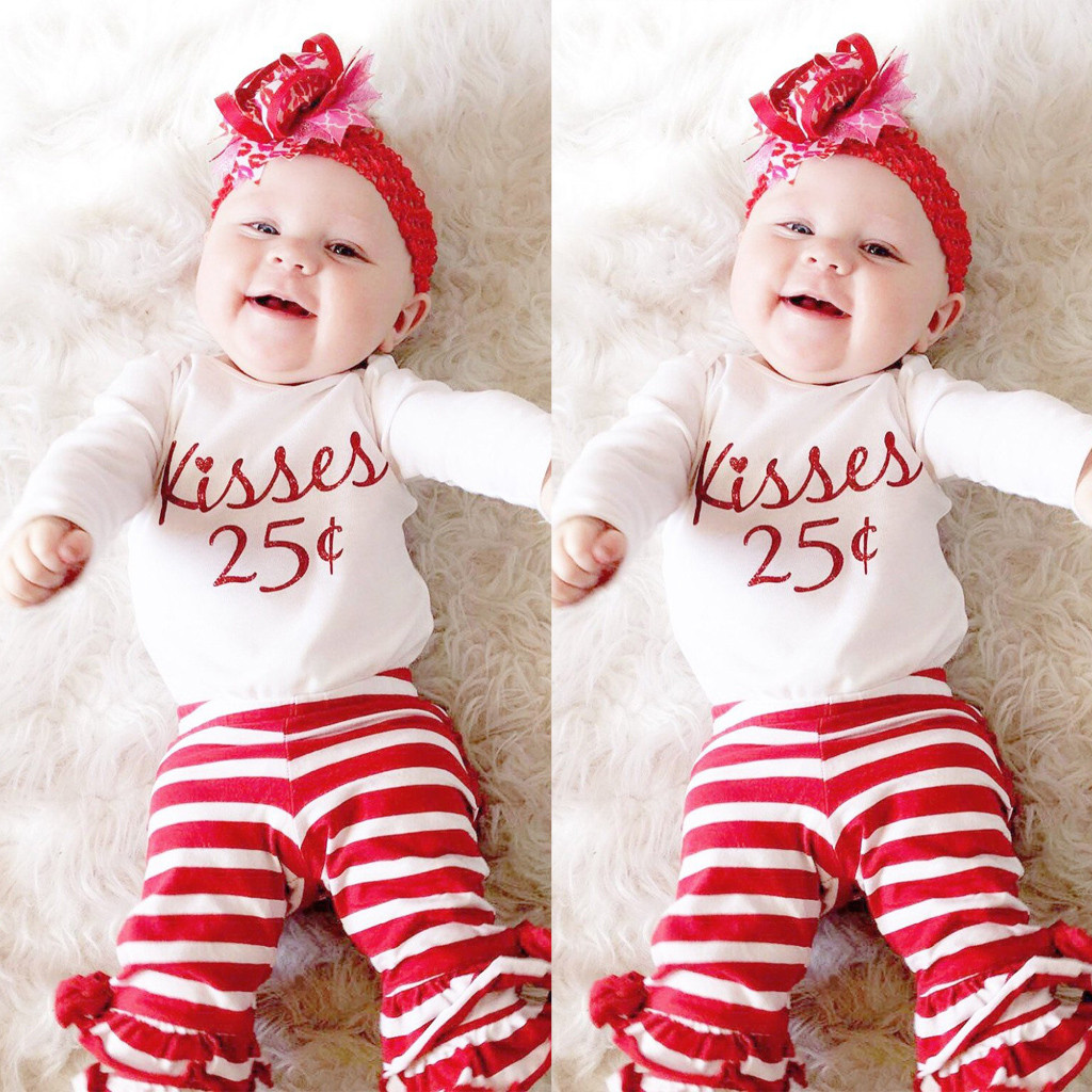 Boys' Baby Clothing Smart Muqgew Dress For Girls Baby Girls Red Romper Newborn Infant Baby Girls Letter Romper Jumpsuit Leggings 3pcs Outfits Set #5-6 A Great Variety Of Models Clothing Sets