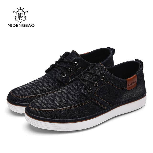 High Quality Canvas Men Casual Shoes Breathable Fashion Footwear Male Loafers Shoes Black Mens Shoes Sales Flats Walking Shoes