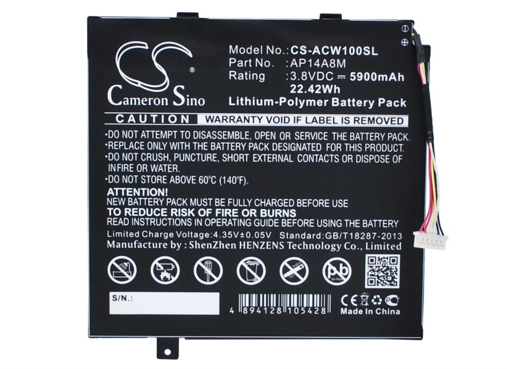 AP14A8M Battery For Acer A3-A20FHD AspireE Switch 10 Iconia Tab 10 A3-A20