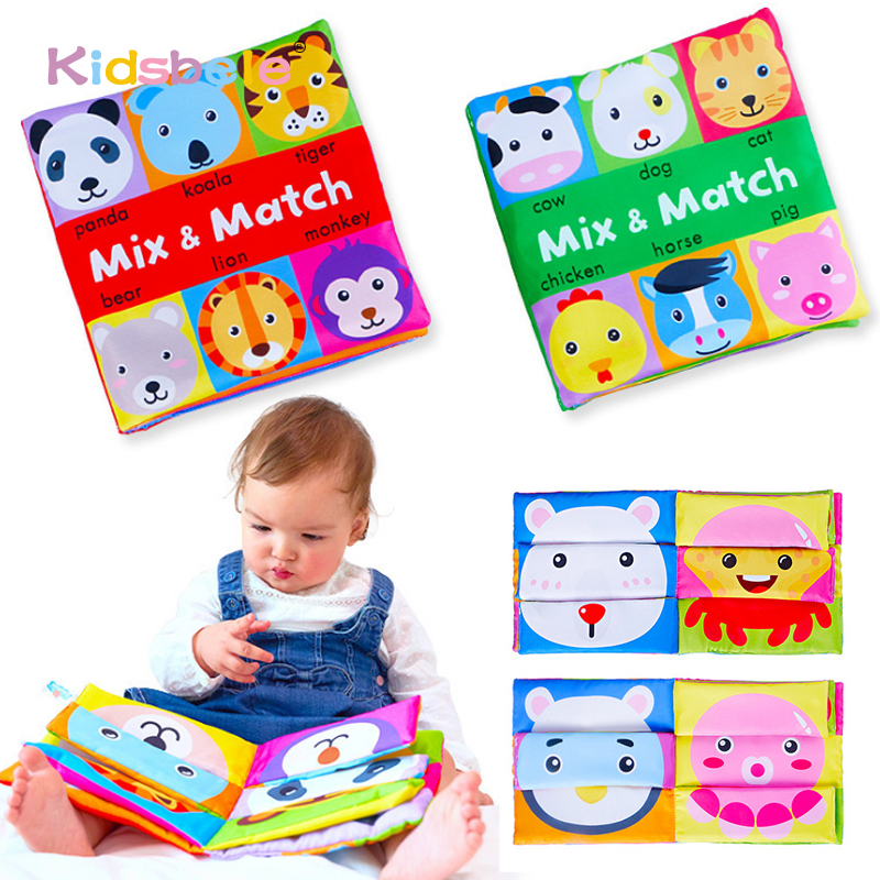 Baby Soft Books Toys For Toddlers Colorful Mix&Match Colorful Crinkle Early Learning Educational Toys For Infant 0-24 Months