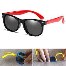 Детские солнцезащитные очки с поляризационными зеркальными стеклами