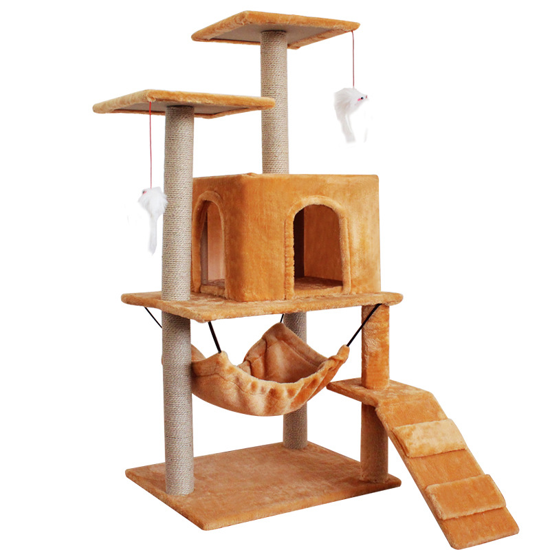 Pet Cat Climber Multi layer Luxury Furniture Cat Scratching Post Climbing Tree Jumping Frame Toy with Ladder Cats House Supplies