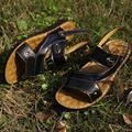 2016 Summer New Men's Leather Sandals Men Sandals Breathable Genuine Leather sandals Slippers SIZE 38-44 Free Shipping
