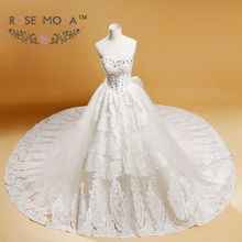 Rose Moda Luxury Full Wedding Dress Royal Cathedral Train