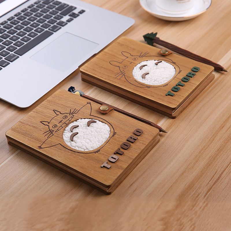 Novelty Cartoon Totoro Planner Notebook Cute Wooden Chinchilla Diary Note Book Gifts School Office Stationery Supplies 1pc creative cute cartoon animal planner notebook diary book wooden school supplies student gift