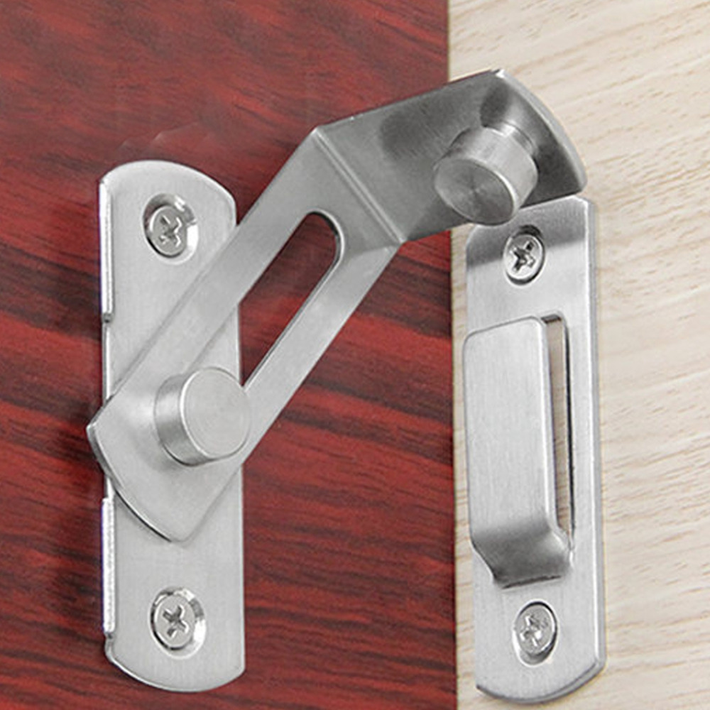 90 Degree Buckle Bolt Barn Home Door Lock Latch Hasp Sliding Buckle For Toilet