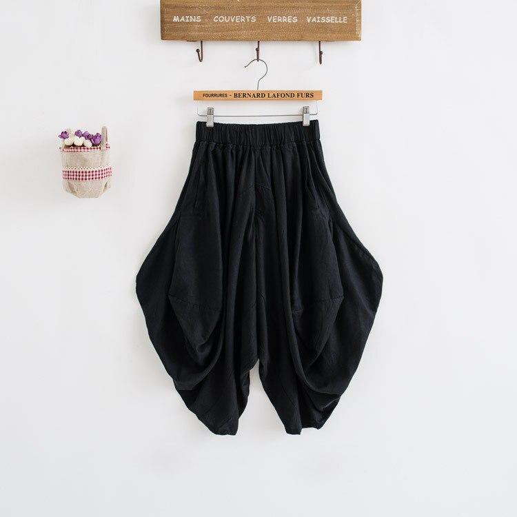 Damen Baumwolle Leinen Lose Haremshose Frauen Kleidung Strench Taille - Damenbekleidung - Foto 6
