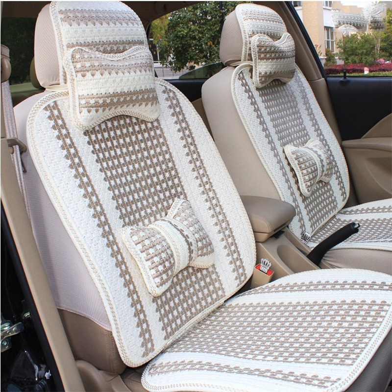 New Ice Silk Car Seat Cover Summer Cool Seat Cushion Four Seasons General Surrounded Car Seat Cover for Focus Buick Excelle lk 33 ice silk mesh massage cushion pad for car seat black