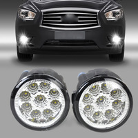 Pair 261508993B 261508992B Fog Lamp Light 9 LED Daytime Running Light DRL For Nissan Cube Juke