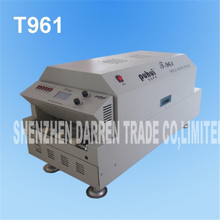 Светодиодный печи оплавления инфракрасный нагрева 230*730 мм T961 сварки печь Puhui T 961, 220 В, 6 зоны Температура пайки машины