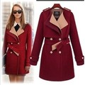 2017 Nova moda outono inverno mulher casaco e jaquetas dupla breasted trench coat de lã longo fino casaco grosso outwear