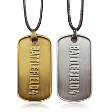 Fashion Men Jewelry BF4 Battlefield 4 Dog Tag Military Card Necklaces Pendants antique Bronze and Tin jewelry