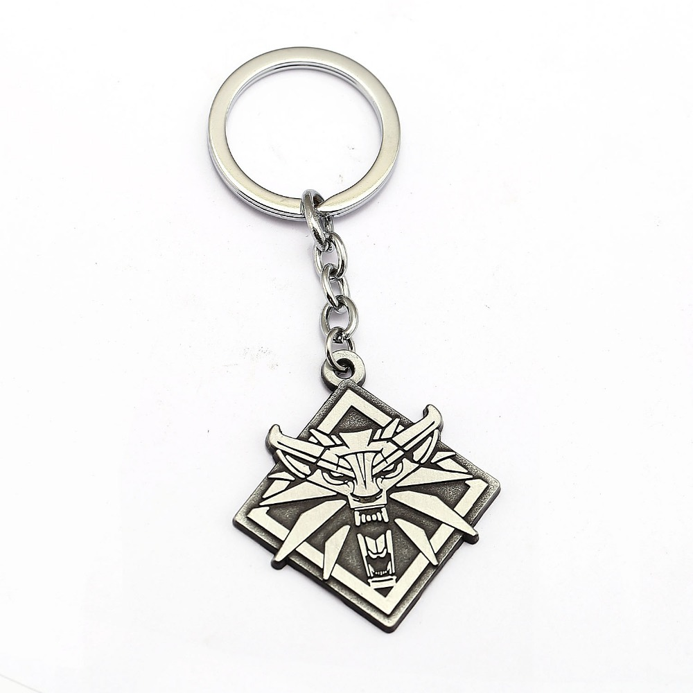 Amiable The Witcher 3 Wild Hunt Keychain Wolf Key Ring Holder Metal Fashion Car Bag Chaveiro Key Chain Pendant Cool Jewelry