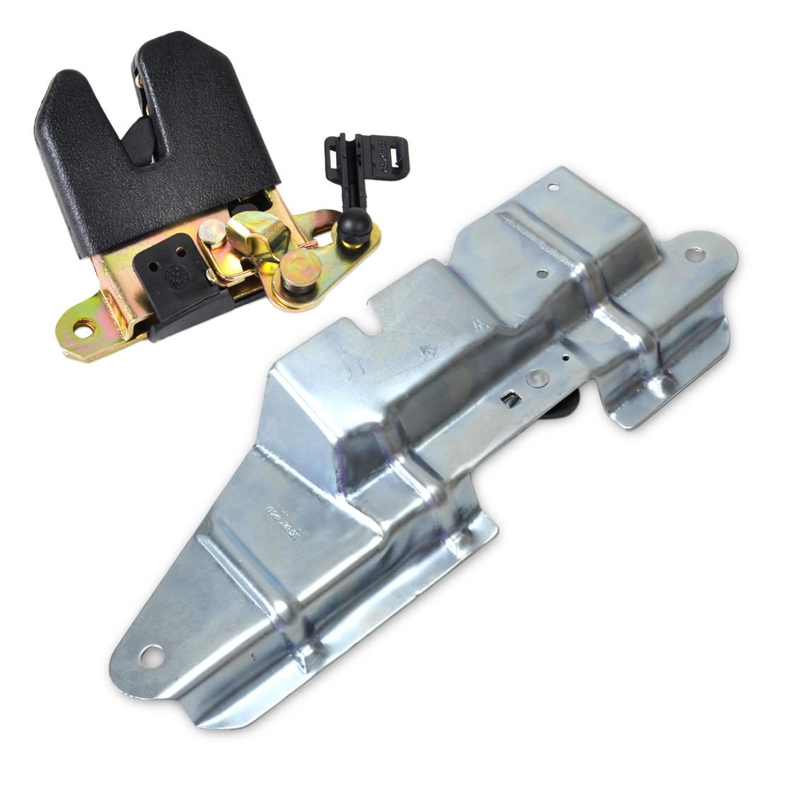DWCX Rear Trunk Boot Lid Latch Lock Actuator Bracket Mount Set 1J5827505 1J5827425F 1J5827505H01C For VW Jetta Bora 1999 - 2004