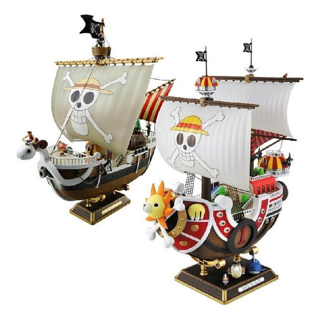 35 センチメートルアニメワンピースサウザンド · サニー号 & メリルボート海賊船図pvcアクションフィギュアおもちゃグッズモデルおもちゃギフトWX151
