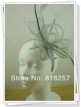 Envío libre de color plata tocados de alta calidad/accesorios de boda agradable/sinamay sombreros del fascinator/evento headwear FS111
