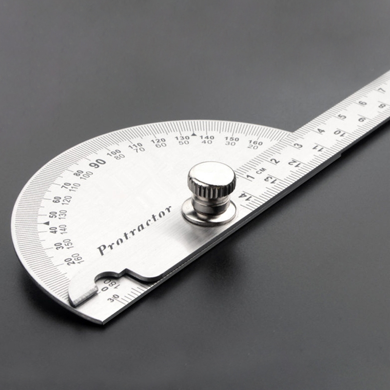 Stainless Steel Protractor 0-180 Degree Angle Finder Measuring Ruler Tool For Engineering Student Drawing  Architectural Supplie